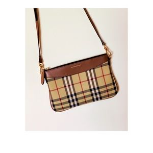 Burberry Horseferry check canvas sling bag